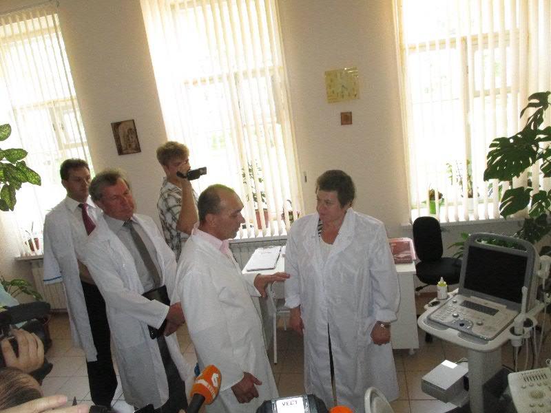 Врио губернатора Владимирской области Светлана Орлова посетила в Гороховце центральную районную больницу.