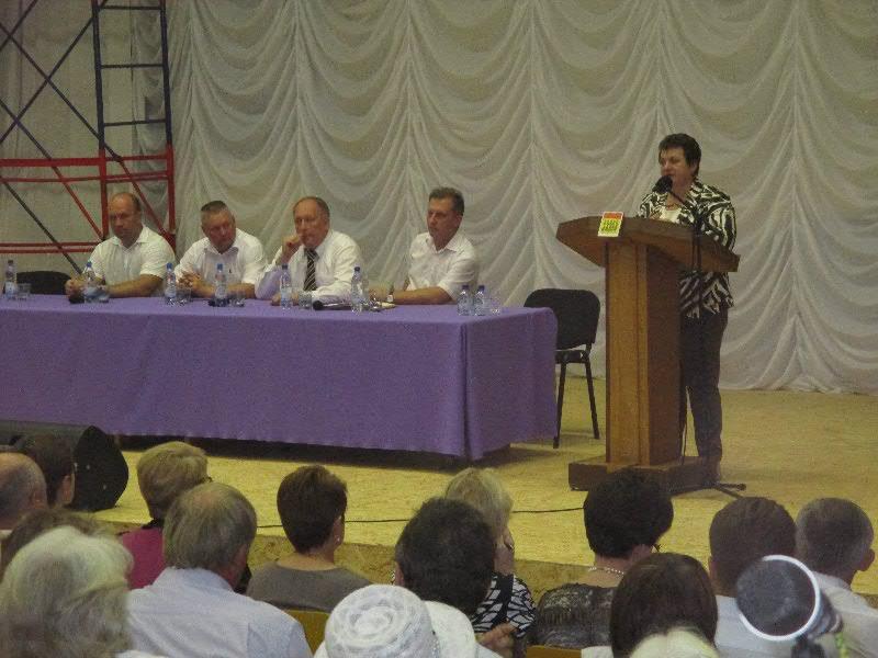 Врио губернатора Владимирской области Светлана Орлова на встрече с жителями Гороховца.